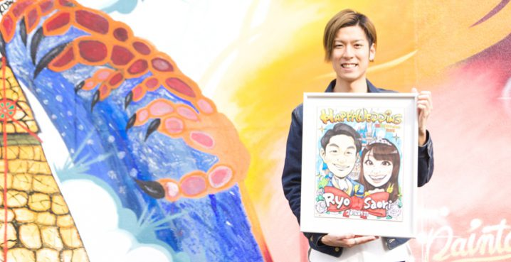 福井県で描いてもらえるおすすめ似顔絵ウェルカムボード